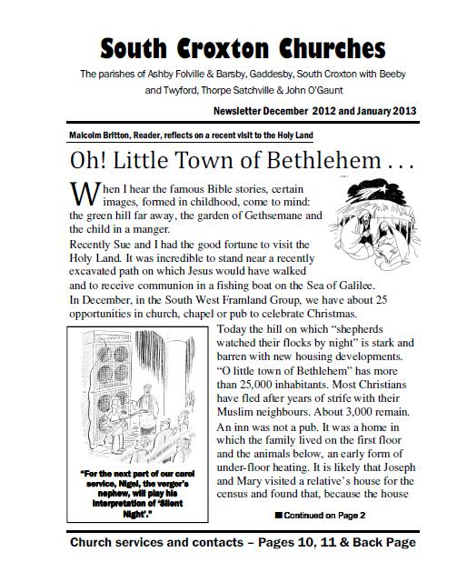 Christmas Church Newsletter  Gaddesby