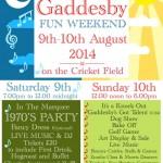 Gaddesby Fun Weekend Poster
